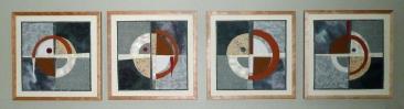 Celtic Crosses II, 12''x12'' each