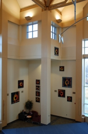 Dordt College Installation, Variations on a Theme (20 elements, 24, 36, and 48 inches square)