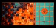 Rhythmic Improvisation (Day and Night), 34''x70''