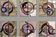 Ribbon Dances, 12''x12'' each