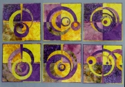 Variations in Purple and Yellow, 12''x12'' each