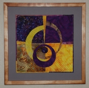 Variations in Purple and Yellow I, 12''x12''